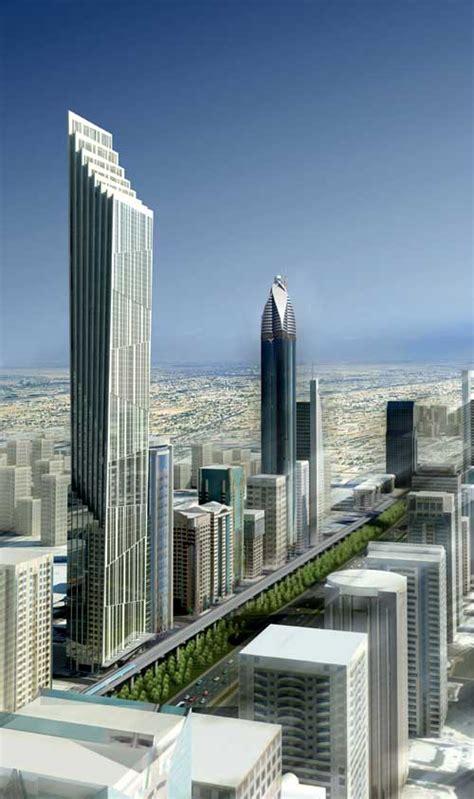 p  tower dubai uae skyscraper design  architect