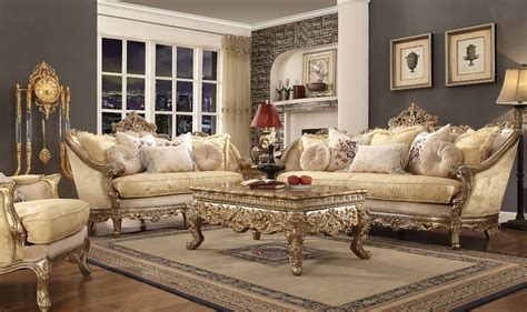 Traditional Style Living Room Furniture by Medichi Traditional Style Living Room