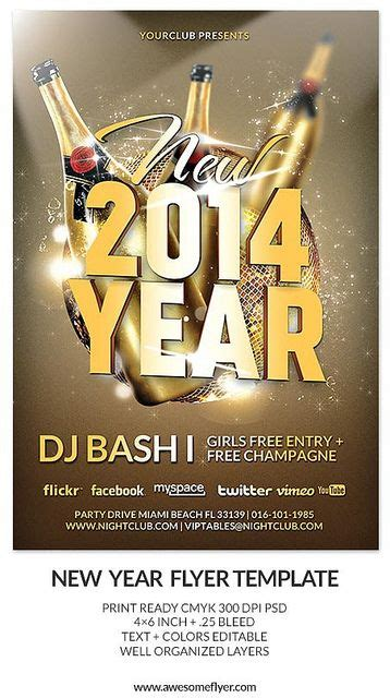 new year templates for photoshop download new year and new year s eve party and club flyer