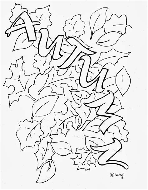coloring pages for kids by mr adron autumn leaves