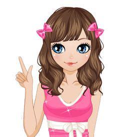 imagenes tiernas vectorizadas logo logotipo logomarca boneca personalizada menina