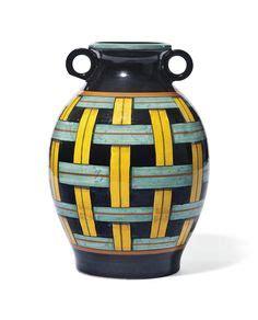Moderne Fliesen 2373 by Gio Ponti Richard Ginori Faience Vase With Prancing