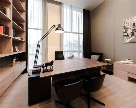 girls room that have a office up stairs modern townhome upstairs office wooden table olpos design