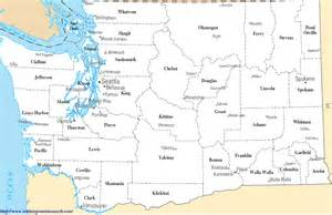 state map with cities and counties washington state county map a map of washington state