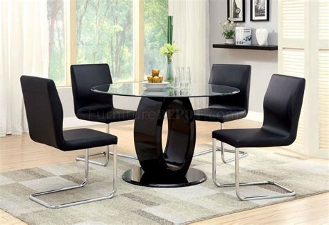black lacquer dining room set lodia dining room cm3825rt 5pc set in black lacquer