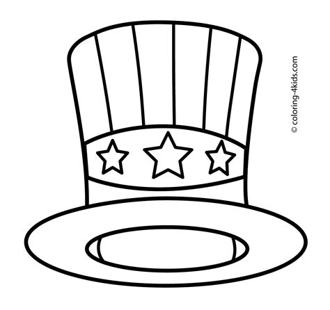 independence day coloring pages printable usa hat coloring pages usa independence day coloring