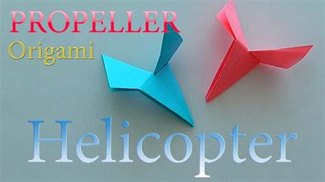 origami for boys how to make a paper helicopter propeller origami for