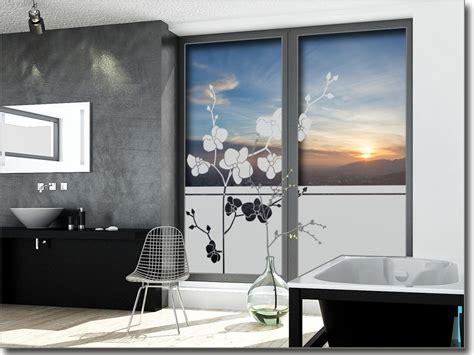 badezimmerfenster blickdicht sichtschutzfolie orchidee fensterperle de