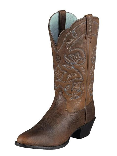 me boots ariat western heritage r toe boots for