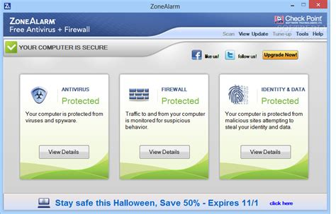 best free firewall antivirus zonealarm free antivirus firewall 15 3 060 17669