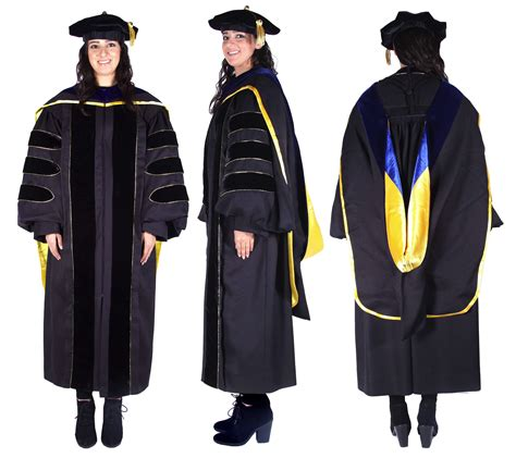 Chaminade Mba Cap And Gown Colors by Premium Black Phd Gown Cap Regalia Set
