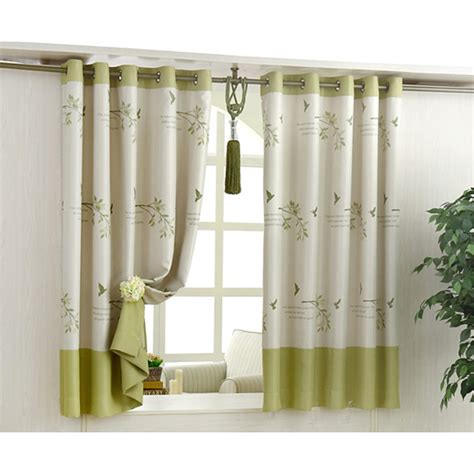 Curtains Botanical Print Green Botanical Print Polyester Country Bay Window Curtains