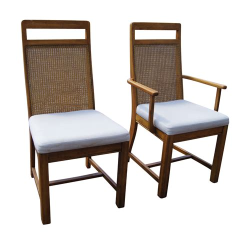 cane back armchair set of 6 cane back dining chairs