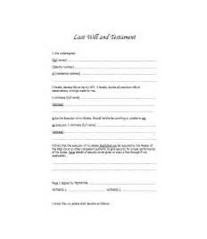 Template Of Last Will And Testament by 39 Last Will And Testament Forms Templates Template Lab