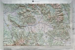 montrose regional raised relief map in the state of co