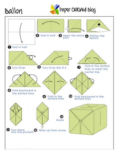Origami Balloon Step By Step - origami a balloon paper origami guide