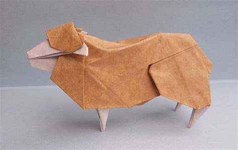 Origami Sheep - this week in origami july 31 2015 edition