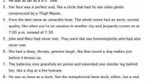 bad analogies written  high school students youtube