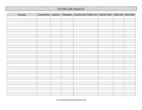 blank printable monthly bill organizer due date calendar templates calendar template 2016