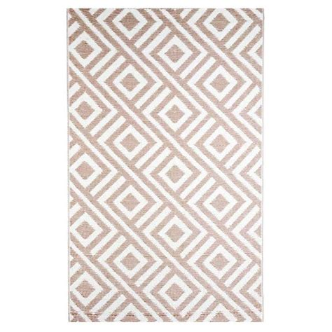 Designer Outdoor Rugs B B Begonia Malibu Beige White 9 Ft X 12 Ft Designer Outdoor Rv Cing Patio Reversible Area