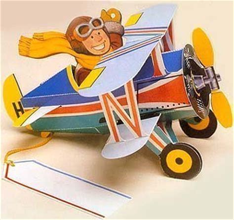 Pilot Gift Card - biplane airplane with smiling pilot pop up gift card other