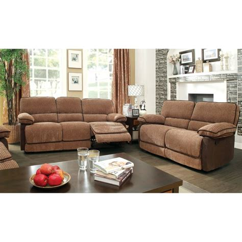 Plush Leather Sofa Furniture Of America Bernard 3 Plush Faux Leather Sofa Set Idf 6581 3pc