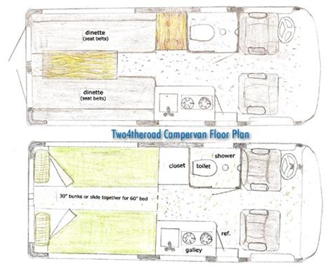 conversion van floor plans sprinter van cer conversion kit autos weblog