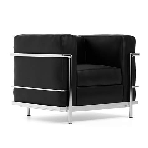 Le Corbusier Lc2 Armchair by Armchair Le Corbusier Lc2 Grand Confort Petit Mod 232 Le Black