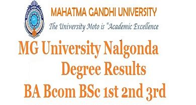 Mgu Mba Syllabus by Mgu Mahatma Gandhi Degree Results Ap Ts