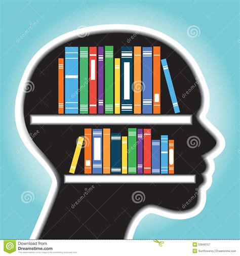 bookshelf with human concept stock vector image