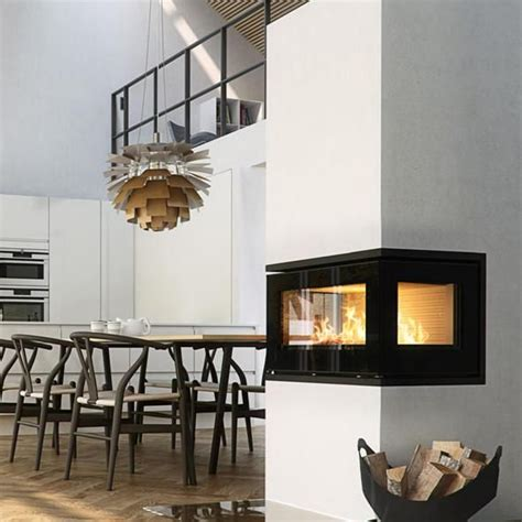 Open Wood Burning Fireplace Inserts by Rais Stoves 500 3 6kw Insert Wood Burning Three Sided