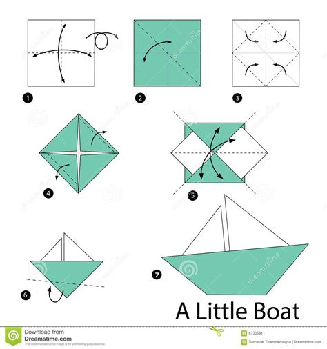origami little boat step by step instructions how to make origami a little