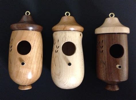 hummingbird houses available in cherry maple and walnut