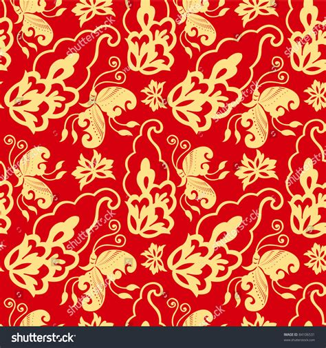 chinese pattern fabric vector chinese pattern background stock vector 84106531