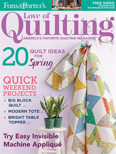 Digital Issue Of Quilting Marchapril 2005 of quilting march april 2014 from fons porter the