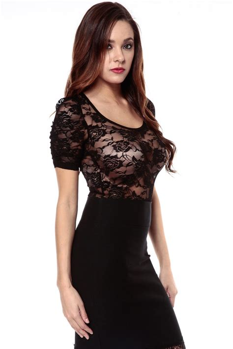 And Black Lace Blouse by Shear Black Lace Blouse Cicihot Top Shirt Clothing