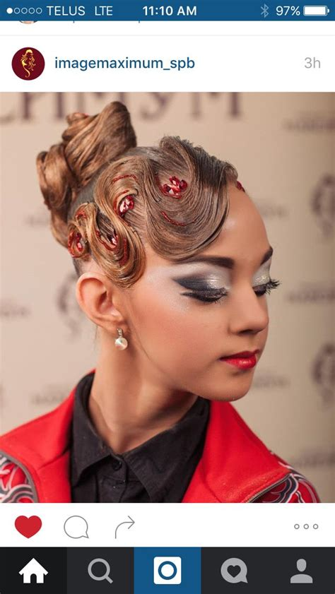 hairstyle ideas for dance competitions 1000 images about ballroom hairstyles on pinterest updo