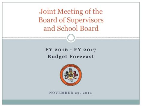 2016 joint board of supervisors and school board retreat joint meeting of board of supervisors and school board