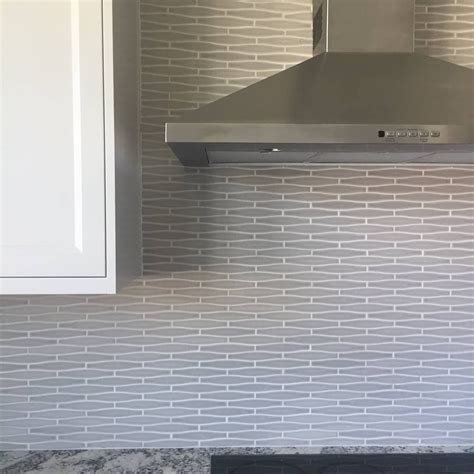 closeup view of savannah grey backsplash installation absolutely in love with this tiletuesday vogue gray