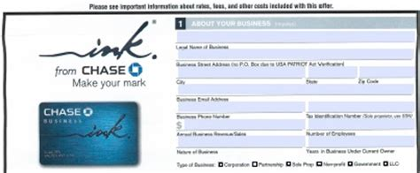download chase credit card application form