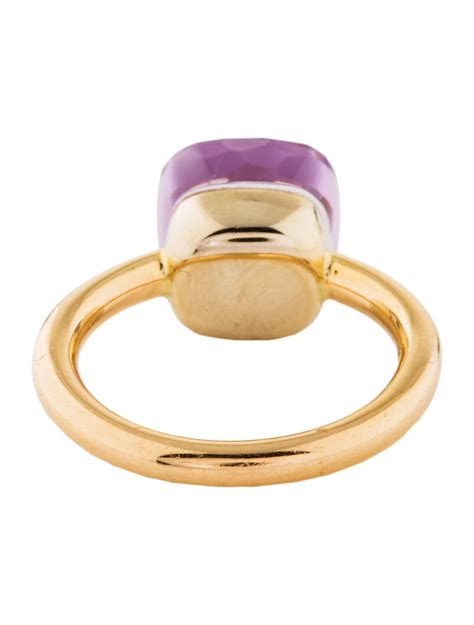 pomellato jewelry pomellato amethyst nudo ring rings pom20837 the realreal