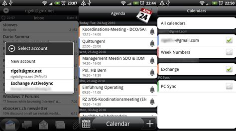 Calendar Update Frequency Android Rigelt Exchange Activesync On Android Phones Desire Froyo