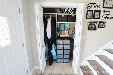 Organize Entryway Closet by A Neat And Tidy Entry Closet Just A And