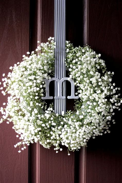 Pinterest Spring Home Decor by Baby S Breath Wreath Diy Update Two Delighted