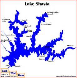 lake shasta map images