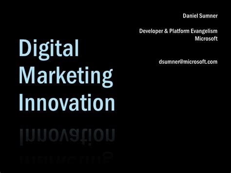 Mba Ms Digital Innovation by Digital Marketing Innovation