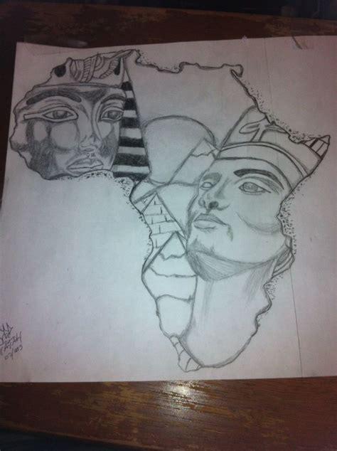 afro tattoo designs tattoos king tut and nefertiti