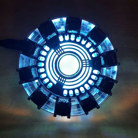 marvel avengers iron man tony diy arc reactor lamp