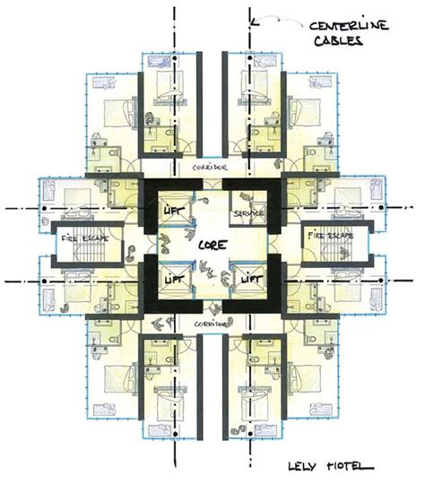 Skyscraper Floor Plan by Lely Hotel Lelystad Building Allard Architecture Holland