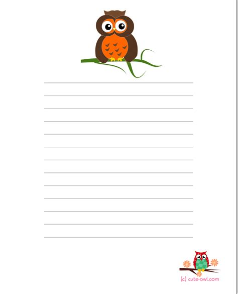 printable stationery items free printable owl baby showe games